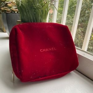 Red velvet Chanel Makeup pouch